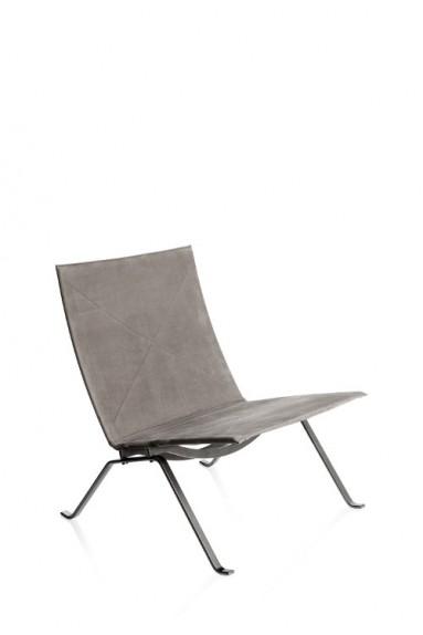 Fritz Hansen - PK22™ leather lounge chair by Poul Kjærholm