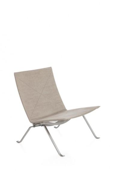 Fritz Hansen - PK22™ canvas lounge chair by Poul Kjærholm