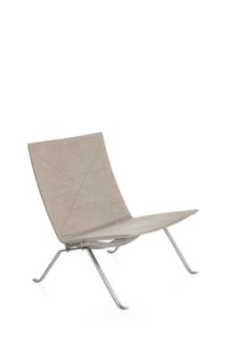 PK22™ canvas lounge chair by Poul Kjærholm