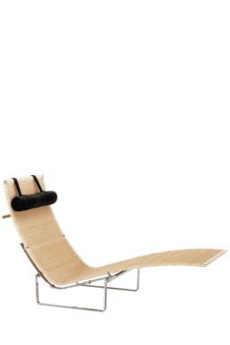 PK24™ wicker long chair by Poul Kjærholm