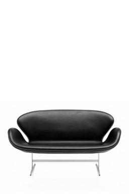 SWAN™ Leather Sofa by Arne Jacobsen
