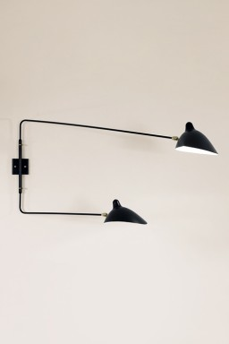 Serge Mouille - Serge Mouille Wall Light with 2 straight pivoting arms