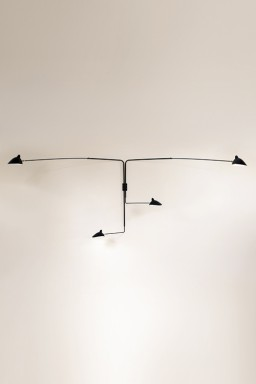 Serge Mouille - Serge Mouille Wall Light with 4 pivoting arms