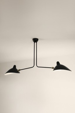 Serge Mouille - Serge Mouille Ceiling Light with 2 fixed arms