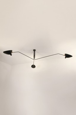Serge Mouille - Serge Mouille Ceiling Light with 3 pivoting arms