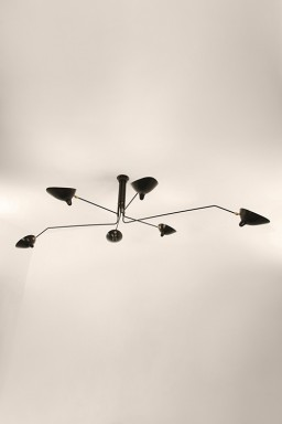 Serge Mouille - Serge Mouille Ceiling Light with 6 pivoting arms
