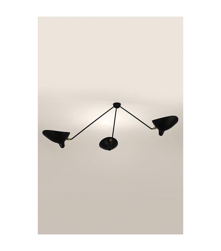 serge mouille plafonnier araign e 3 bras fixes. Black Bedroom Furniture Sets. Home Design Ideas