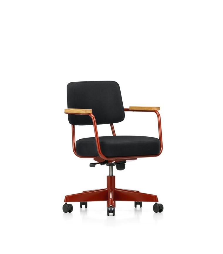 Vitra fauteuil direction pivotant jean prouve for Fauteuil design vitra