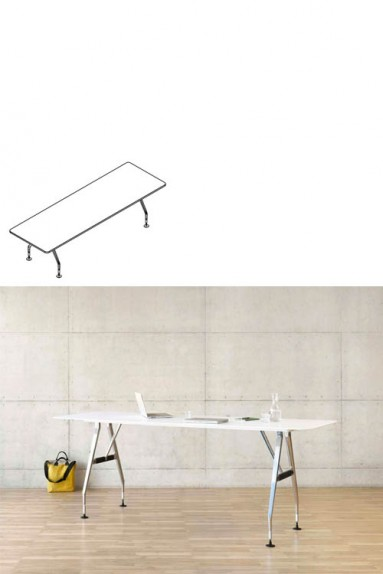 Vitra - Ad Hoc Solitaire 280 x 90 cm Vitra rectangular Meeting table