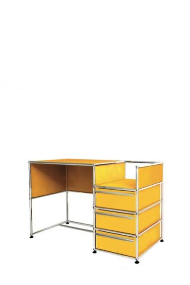 USM Haller - Bureau d'appoint 3 tiroirs USM Haller Home Office 118 x 53 x h77 cm