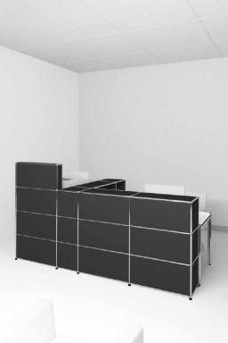 USM Haller - Banques d'accueil Proposition 3 USM Haller Séparation acoustique 263 x 148 x h144 cm