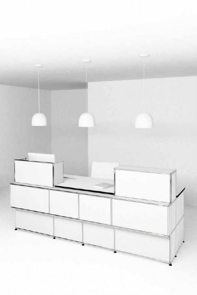 USM Haller - Banques d'accueil Proposition 1 USM Haller 4 tiroirs 253 x 98 x h109 cm