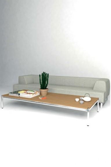 USM Haller - Solutions Tables basses N°09 USM Haller Coloris/Plaquage Bois 250 x 100 x h37 cm
