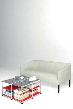 USM Haller - Solutions Tables basses N°07 USM Haller Format carré 73 x 73 x h39 cm