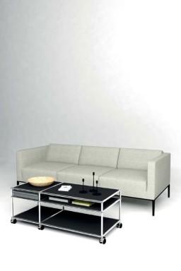 USM Haller - Solutions Tables basses N°04 USM Haller 1 tiroir 118 x 53 x h43 cm
