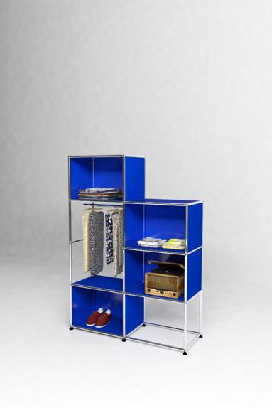USM Haller - Présentoir avec penderie Solutions Retail N°04 USM Haller 103 x 38 x h144 cm