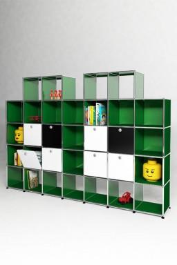 USM Haller - Bibliothèque 8 portes Solutions Kids N°09 USM Haller 248 x 38 x h179 cm