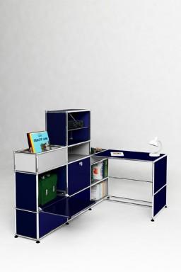 USM Haller - Bureau d'angle 2 portes Solutions Kids N°08 USM Haller 153 x 103 x h116 cm