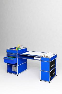 USM Haller - Bureau 2 tiroirs Solutions Kids N°07 USM Haller 143 x 53 x h74 cm