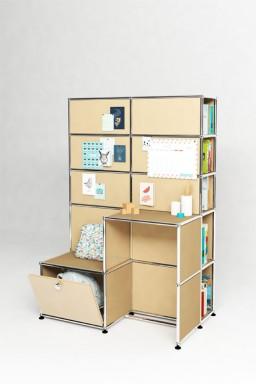 USM Haller - Solutions Kids N°06 USM Haller Système de rangement modulaire 103 x 63 x h149 cm