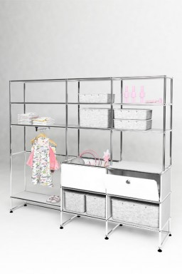USM Haller - Dressing enfant Solutions Kids N°05 USM Haller 178 x 38 x h154 cm