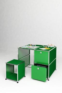 USM Haller - Bureau d'enfant 2 tiroirs 1 caisson Solutions Kids N°03 USM Haller 93 x 78 x h74 cm