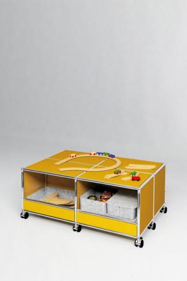 USM Haller - Solutions Kids N°02 USM Haller Système de rangement 4 caissons 103 x 73 x h43 cm
