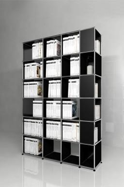 USM Haller - Solutions Bibliothèques Home N°08 USM Haller avec colonne latérale 153 x 38 x h217 cm