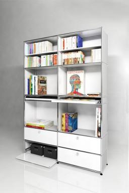USM Haller - Solutions Bibliothèques Home N°05 USM Haller 4 portes 153 x 38 x h217 cm