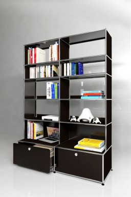 USM Haller - Solutions Bibliothèques Home N°03 USM Haller 2 tiroirs 153 x 36 x h176 cm