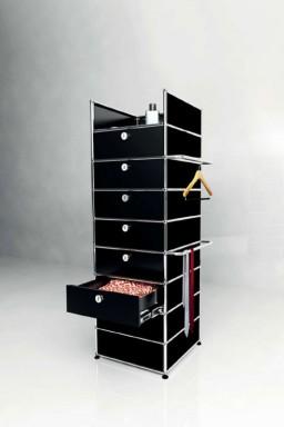 USM Haller - Meuble 6 tiroirs Solutions Dressing N°09 USM Haller 53 x 53 x h161 cm