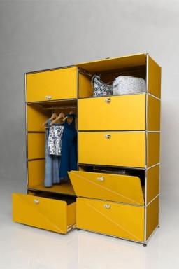 USM Haller - Penderie 5 portes 2 tiroirs Solutions Dressing N°08 USM Haller 153 x 53 x h179 cm