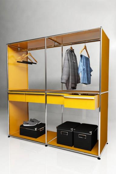 USM Haller - Penderie 4 tiroirs Solutions Dressing N°05 USM Haller 153 x 53 x h154 cm