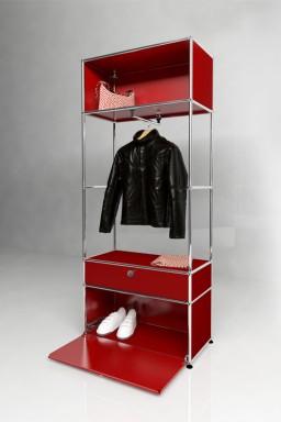 USM Haller - Penderie 1 porte 1 tiroir Solutions Dressing N°02 USM Haller 78 x 38 x h191 cm