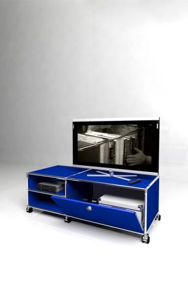 USM Haller - Meuble TV 1 porte Solutions Media N°03 USM Haller 128 x 53 x h43 cm
