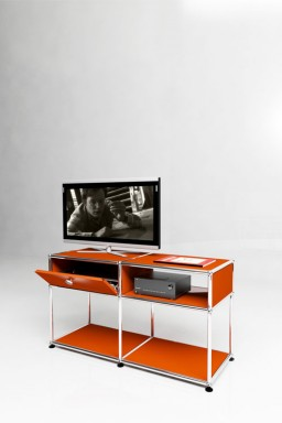 USM Haller - Meuble TV haut Solutions Media N°02 USM Haller 103 x 38 x h56 cm