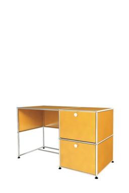 USM Haller - Bureau d'appoint 1 porte 2 tiroirs USM Haller Home Office 128 x 53 x h77 cm
