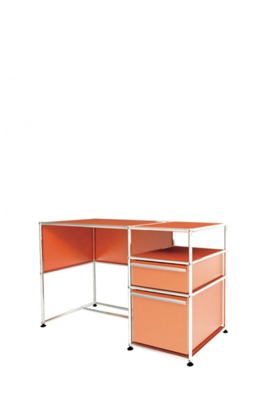 USM Haller - Bureau d'appoint 2 tiroirs USM Haller Home Office 118 x 53 x h77 cm