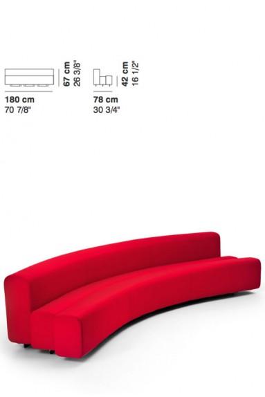 La Cividina - Osaka sofa 180 cm Pierre Paulin