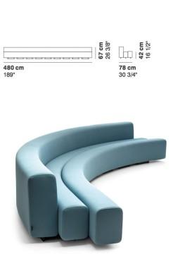 La Cividina - LaCividina Osaka sofa 480 cm Pierre Paulin