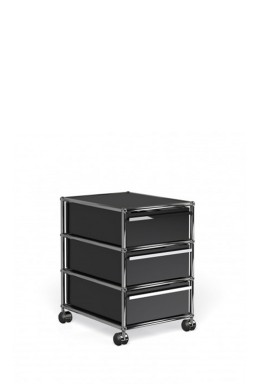USM Haller - Caisson 3 tiroirs sur roulettes USM Haller 39,5 x 50 xh60,5cm