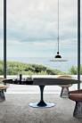 UBER-MODERN - Saarinen Tulip Table Haute Ovale pour 8