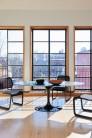 UBER-MODERN - Saarinen Tulip Table Haute Ovale pour 6