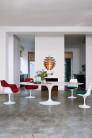 UBER-MODERN - Saarinen Chaise Tulipe avec Coussin et Accoudoirs