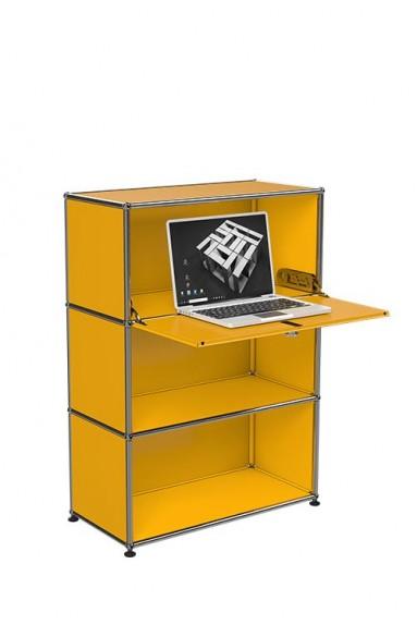 USM Haller - Meuble USM Haller3 modules avec porte abattante Home OfficeB20