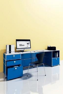 USM Haller - Large bureau de faible profondeur Home Office08 USM Haller