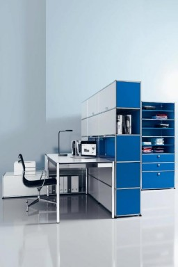 USM Haller - Grand bureau avec rangements USM Haller Home Office 09