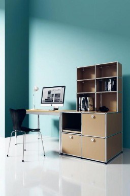 USM Haller - Meuble bureau avec modules de rangement USM Haller Home Office 11