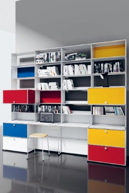 USM Haller - Grand meuble de travail avec rangements Home Office12 USM Haller