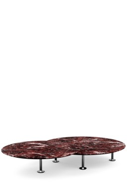 Knoll - Grasshopper Set of two Round Low Tables
